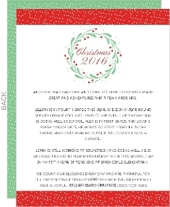 Whimsical Chritmas Wreath Christmas Letter