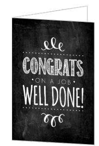 Chalkboard Flourish Congratulations Cards