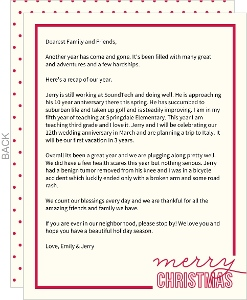 Simple Merry Christmas Letter