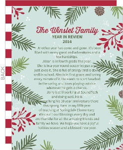 Festive Pine Needle Frame Christmas Letter