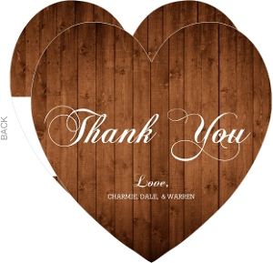Western Woodgrain Photo Set Thank You Card