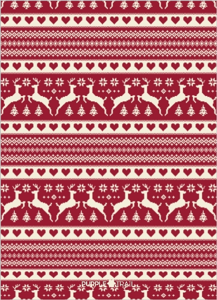 Vintage Sweater Christmas Birthday Party Invitation