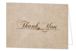 Gray Textured Thank You Cards