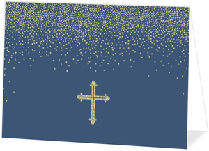 Glitter Religious Cross Card Blank