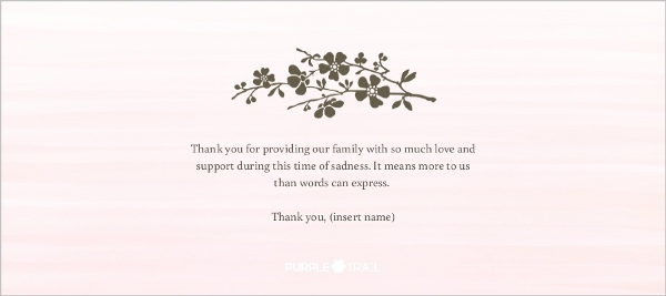 Beautiful Cherry Blossom Sympathy Thank You | Sympathy Thank You Cards