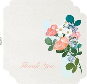 Elegant Floral Funeral Thank You Card