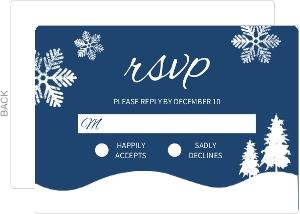 Snowy Nightfall Christmas Wedding Response Card