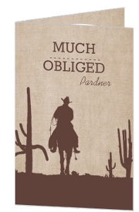 Lone Ranger Thank You Card