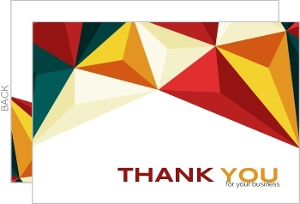 Colorful Geometric Business Thank You Card