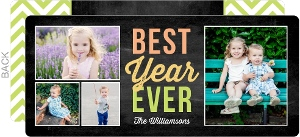 Best Year Ever Year Holiday in Review Photo Card