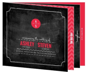 Modern and Classy Chalkboard Wedding Booklet Invitation