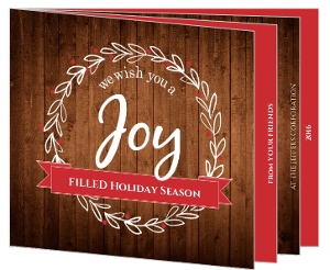 Rustic Business Holiday Booklet Card