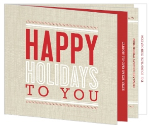 Red Booklet Business Holiday Card