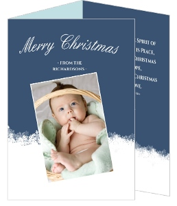 Subtle Snowflakes Christmas Photo Card