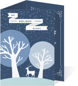 Classic Blue Business Holiday Card