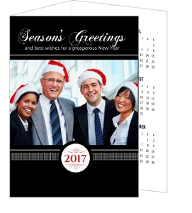 Black Formal Business Calendar Card