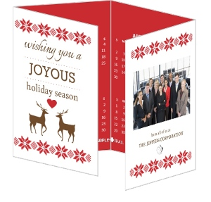 A Joyous Holiday Quadfold Calendar Card