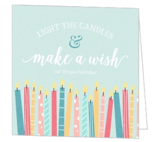 Whimsical Candle Wishes Birthday Greeting Card