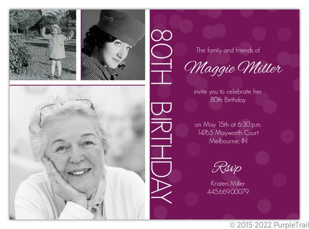 timeline confetti th birthday invitation  th birthday invitations, Birthday invitations