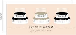 Pale Peach Cakes 80Th Birthday Invitation