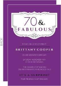Purple and Fabulous 80th Birthday Invitation