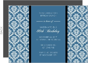 Teal and Texture 80th Birthday Invitation