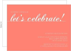 Coral Let S Celebrate 80Th Birthday Invitation