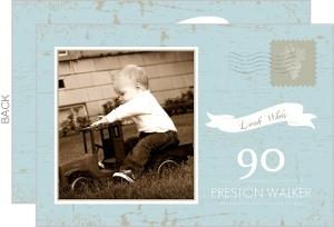 Vintage Postcard Look Whos 90th Birthday Invitation