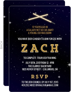 Lightsaber Birthday Invitation