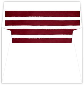 Red Chalkboard Stripes Envelope Liner