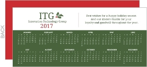 Simple Business Calendar Holiday Card