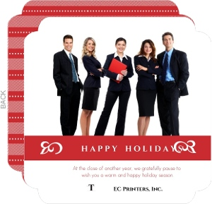 Classic Happy Holidays Business Photo Card