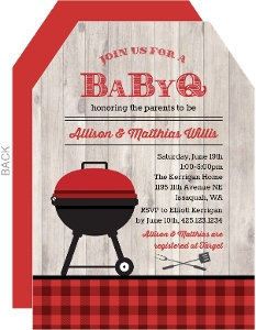 Red Grill Baby Q Baby Shower Invitation