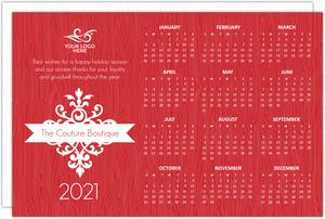 business calendar cards