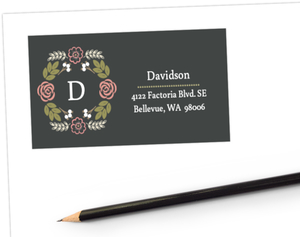 Garden Blossoms Address Label