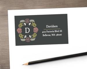 Garden Blossoms Address Label