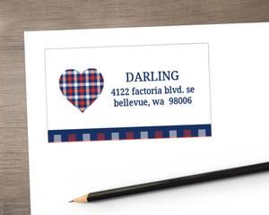 Country Tartan Plaid Address Label