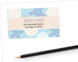 Seashells Star Fish Address Label