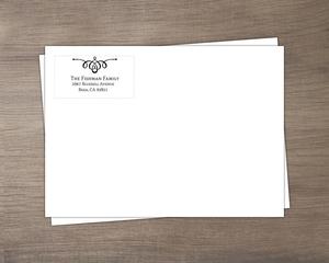 Black Swirl Return Address Only Envelope