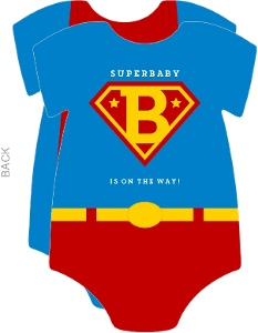 Superbaby Onesie Baby Shower Invitation