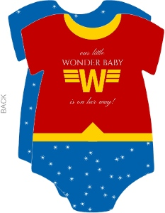 Super Wonder Baby Shower Invitation