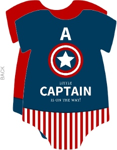 Little Captain Baby Shower Invitation