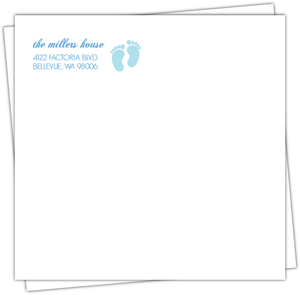 Babyq Blue Return Address Envelope