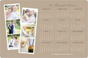 Kraft Photo Strip Fridge Magnet Calendar