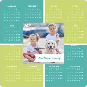 Modern Squares Fridge Magnet Calendar