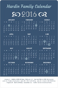 Elegant Flourish Fridge Magnet Calendar