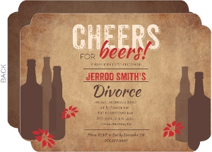 Cheers For Beers Divorce Party Invitation