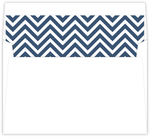 Pink And Blue Anchor Nautical Kids Birthday Envelope Liner