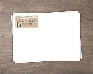 Lights And Rustic Trees Envelope