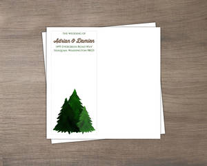 Rustic Pine Tree Custom Envelope